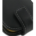 Samsung Corby2 Leather Flip Case (Black) genuine leather case by PDair
