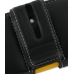 Samsung Corby2 Leather Holster Case (Black) protective carrying case by PDair