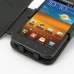 Samsung Galaxy S2 Epic Leather Flip Cover (Orange Stitch) genuine leather case by PDair