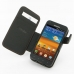 Samsung Galaxy S2 Epic Leather Flip Cover (Orange Stitch) top quality leather case by PDair
