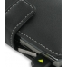 Samsung Epix i907 Leather Flip Cover (Black) handmade leather case by PDair