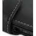 Samsung Fascinate Galaxy S Leather Flip Cover (Black) genuine leather case by PDair