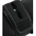 Samsung Galaxy Gio Leather Holster Case (Black) protective carrying case by PDair