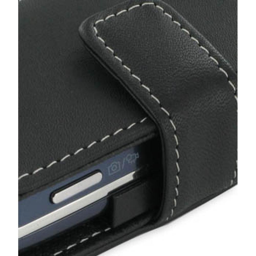 Samsung Glyde U940 Leather Flip Cover (Black) :: PDair ... Samsung Glyde Cases