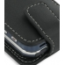 Samsung Glyde U940 Leather Flip Case (Black) handmade leather case by PDair