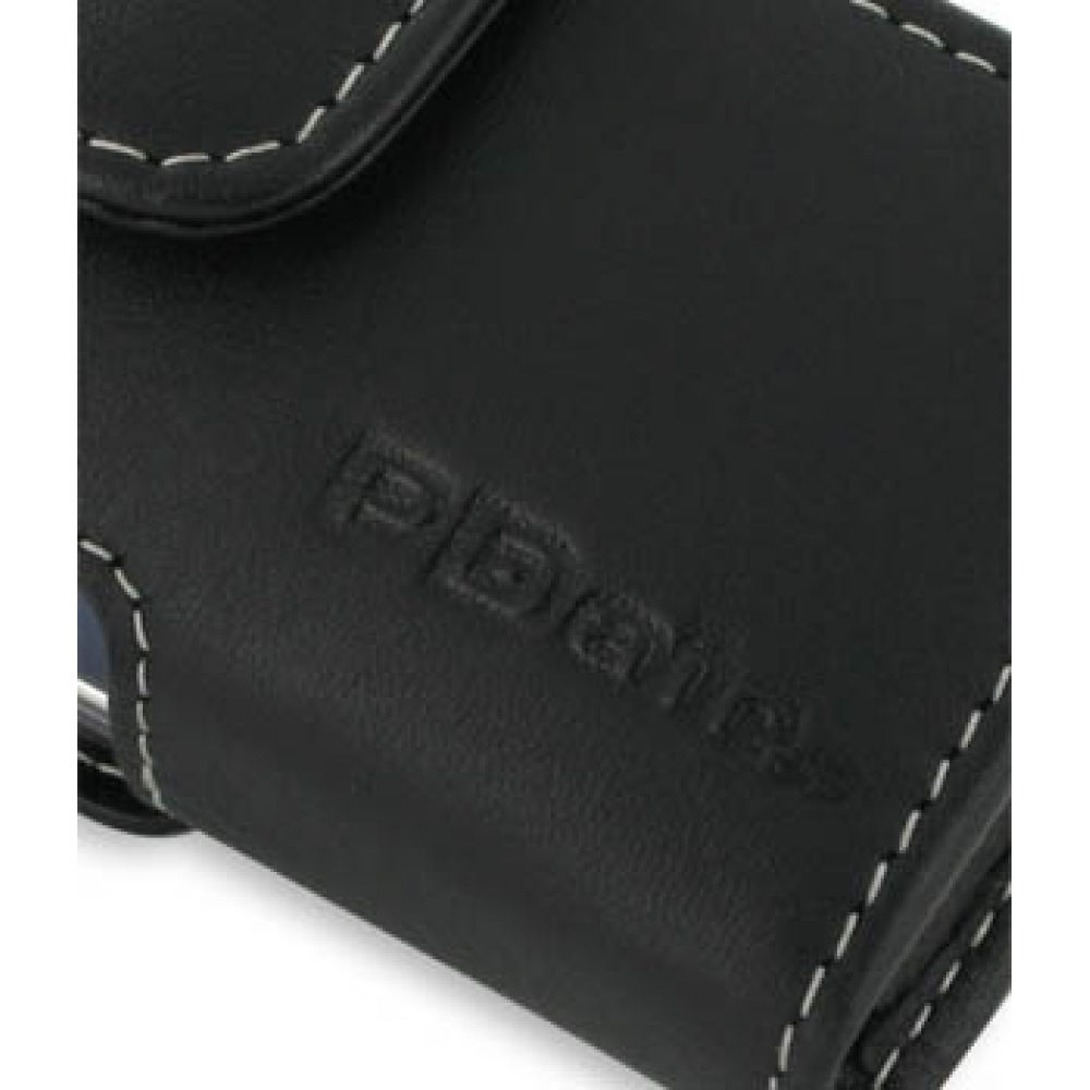 Samsung Glyde U940 Leather Holster Case (Black) :: PDair Pouch Samsung Glyde Cases