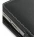 Samsung Blackjack II SGH-i617 Leather Flip Cover (Black) genuine leather case by PDair