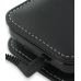 Samsung i8000 Omnia II Leather Flip Cover (Black) genuine leather case by PDair