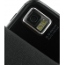 Samsung i8000 Omnia II Leather Flip Case (Black) handmade leather case by PDair