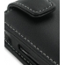 Samsung S8000 Jet Leather Flip Case (Black) handmade leather case by PDair