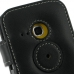 Samsung Galaxy mini 2 Leather Flip Cover (Black) protective carrying case by PDair