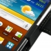 Samsung Galaxy mini 2 Leather Flip Cover (Black) top quality leather case by PDair