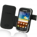Samsung Galaxy mini 2 Leather Flip Cover (Black) custom degsined carrying case by PDair