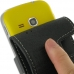 Samsung Galaxy mini 2 Leather Flip Case (Black) handmade leather case by PDair
