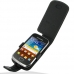 Samsung Galaxy mini 2 Leather Flip Case (Black) custom degsined carrying case by PDair