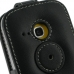 Samsung Galaxy mini 2 Leather Flip Top Case (Black) protective carrying case by PDair
