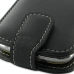 Samsung Galaxy mini 2 Leather Flip Top Case (Black) handmade leather case by PDair