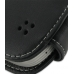 Samsung Galaxy Mini Leather Flip Case (Black) genuine leather case by PDair