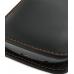 Samsung Galaxy Nexus Pouch Case with Belt Clip (Orange Stitch) handmade leather case by PDair