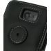 Samsung Galaxy R Leather Flip Cover (Black) protective carrying case by PDair