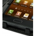 Samsung Galaxy R Leather Flip Cover (Black) genuine leather case by PDair