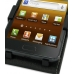 Samsung Galaxy R Leather Flip Top Case (Black) top quality leather case by PDair