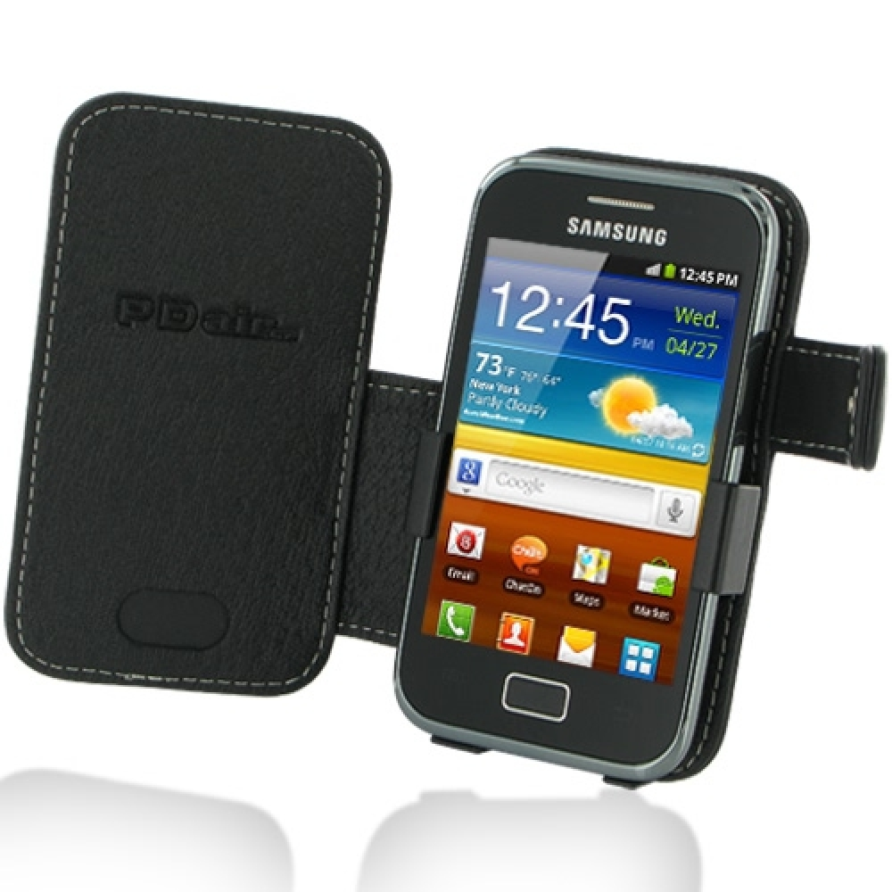 Samsung Galaxy Ace Plus Leather Flip Cover PDair Wallet