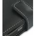 Samsung SGH-i780 Leather Flip Cover (Black) genuine leather case by PDair