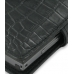 Samsung SGH-i780 Leather Flip Cover (Black Croc) top quality leather case by PDair