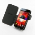 Samsung Galaxy S2 LTE i9210 Leather Flip Cover (Red Stitch) top quality leather case by PDair