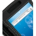 Samsung Captivate Galaxy S Leather Flip Cover (Black) genuine leather case by PDair