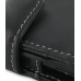Samsung Google Nexus S Leather Flip Cover (Black) handmade leather case by PDair