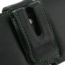 Samsung Galaxy S2 T989 Leather Holster Case (Green Stitch) protective carrying case by PDair