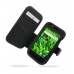 Samsung Vibrant Galaxy S Leather Flip Cover (Black) offers worldwide free shipping by PDair