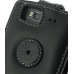 Samsung Wave 3 Leather Flip Top Case (Black) protective carrying case by PDair