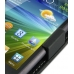 Samsung Wave 3 Leather Flip Top Case (Black) top quality leather case by PDair
