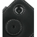 Samsung Wave 575 525 Leather Flip Cover (Black) protective carrying case by PDair