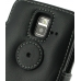 Samsung Wave M Leather Flip Cover (Black) protective carrying case by PDair