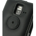 Samsung Wave M Leather Flip Top Case (Black) protective carrying case by PDair