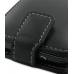 Samsung Wave M Leather Flip Top Case (Black) handmade leather case by PDair