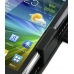Samsung Wave Y Leather Flip Cover (Black) handmade leather case by PDair