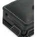 Samsung YP-K5AB K5QB K5ZB Leather Flip Cover (Black) genuine leather case by PDair