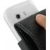Samsung Galaxy Y Leather Flip Case (Black) handmade leather case by PDair