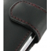 Samsung Galaxy Y Leather Holster Case (Red Stitch) genuine leather case by PDair