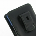 Sony Xperia Z1 (in Slim Cover) Pouch Clip Case (Green Stitch) top quality leather case by PDair