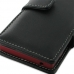 Sony Xperia Sola Leather Flip Cover (Black) handmade leather case by PDair