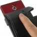 Sony Xperia Sola Leather Flip Case (Black) handmade leather case by PDair