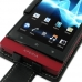 Sony Xperia Sola Leather Flip Case (Black) genuine leather case by PDair