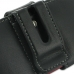 Sony Xperia Sola Leather Holster Case (Black) protective carrying case by PDair