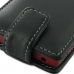 Sony Xperia Sola Leather Flip Top Case (Black) handmade leather case by PDair